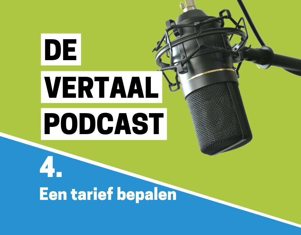 podcastlogo aflevering tarieven bepalen