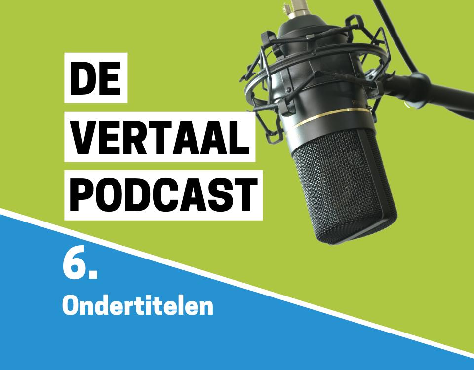 De Vertaalpodcast logo aflevering 6