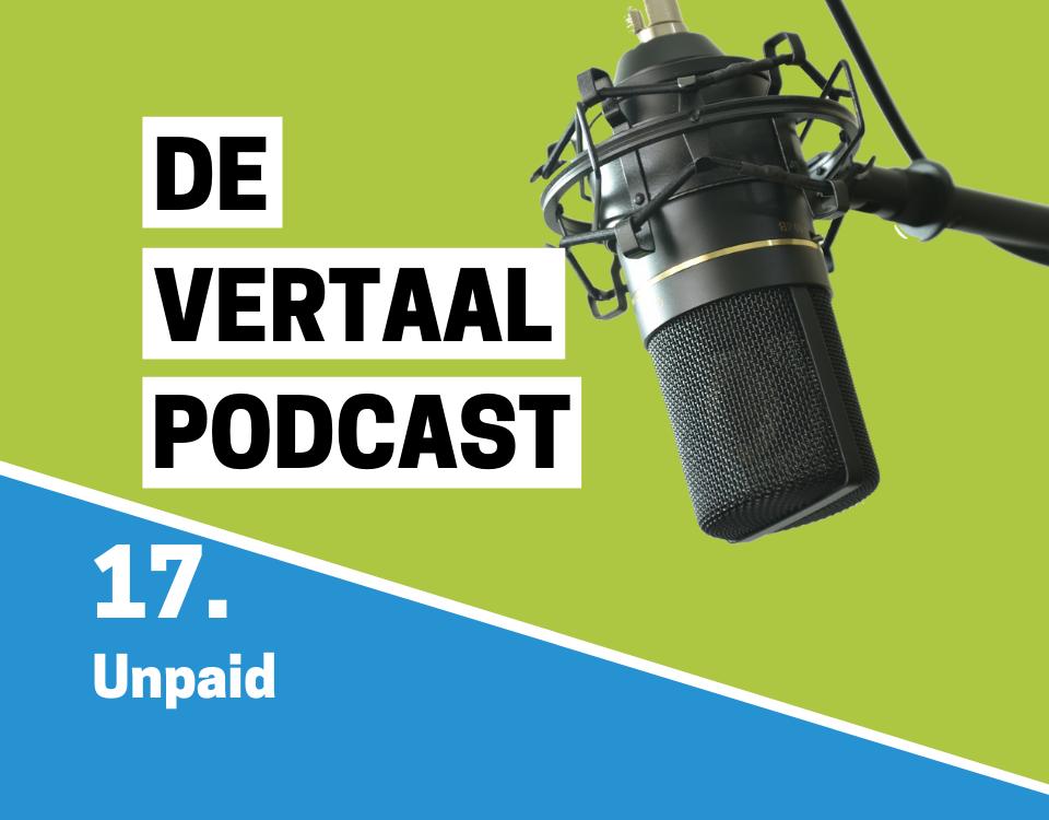 Logo De Vertaalpodcast aflevering 17 over Unpaid
